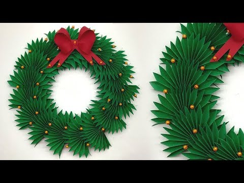 Beautiful Paper Christmas Wreath | Paper Wreath for Christmas Decorations Ideas | Origami Wreath