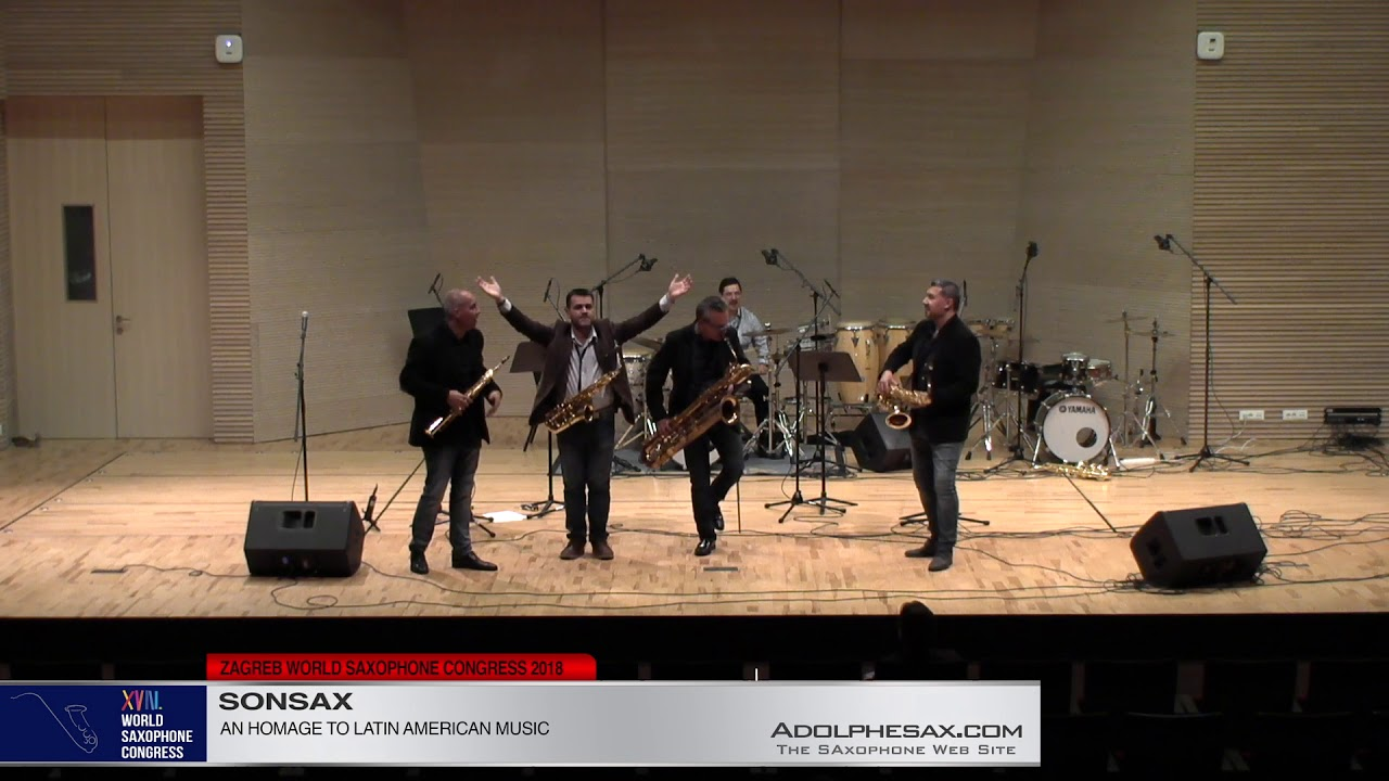 An Homage to Latina American Music   Macondo Ensemble & SONSAX  XVIII World Sax Congress 2018 #adolp
