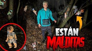 Encontramos un cementerio de muñecas embrujadas en el bosque maldito...