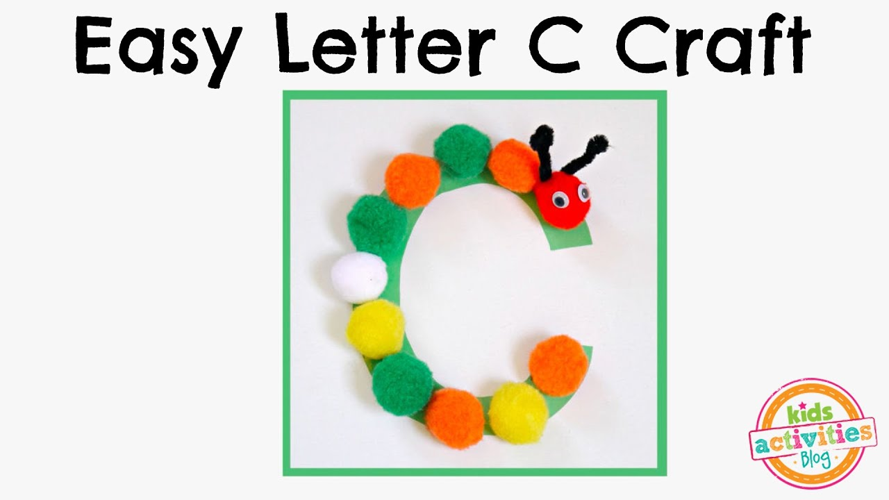 Easy Letter C Craft Preschool Alphabet Resource