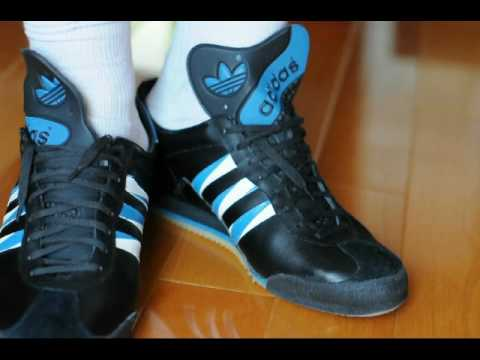 adidas all black trainers 1980s
