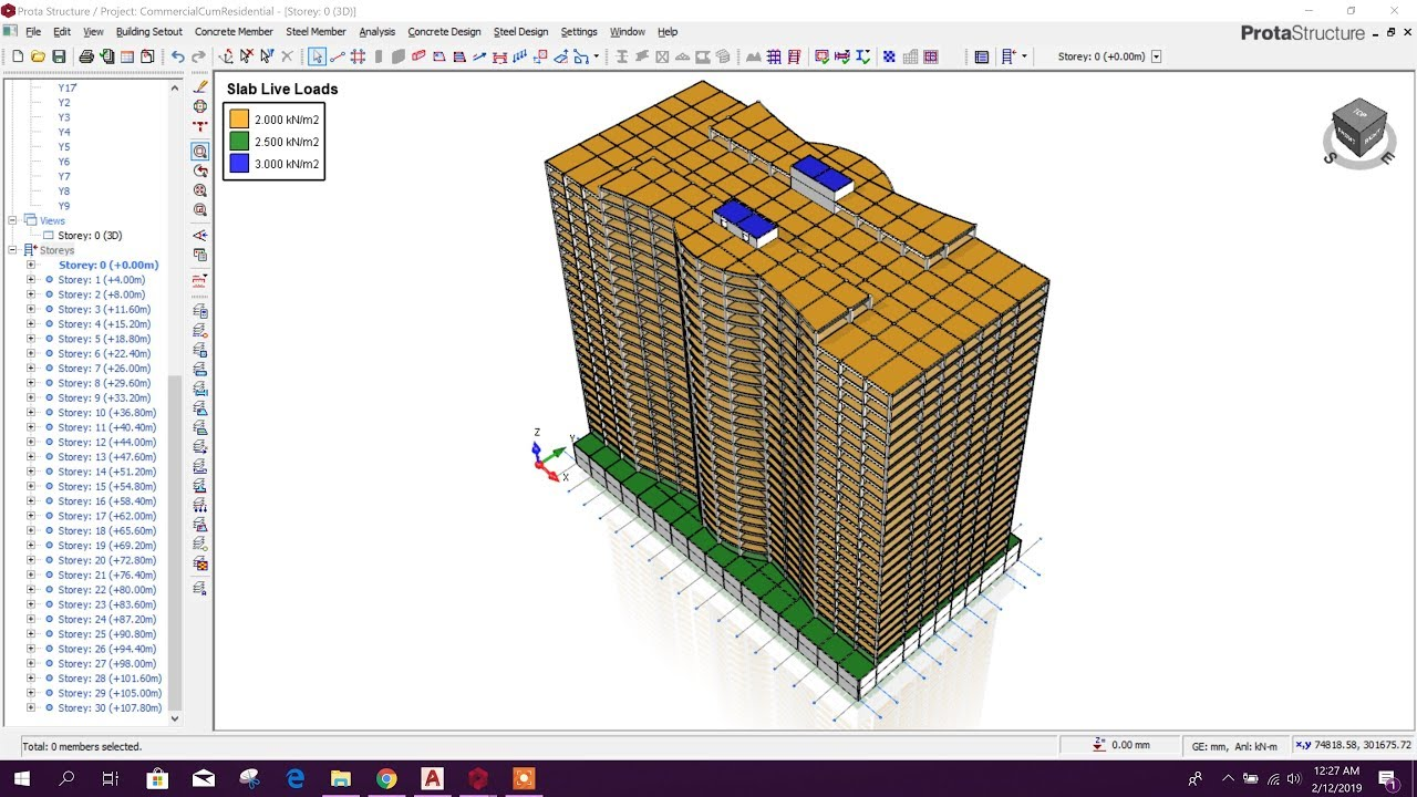 MODELING MULTI STORIED BUILDING IN PROTA STRUCTURE
