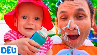 Waschen Spielhaus   Deutsche Kinderlieder   Maya und Mary