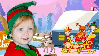 Five Little Elves Jumping in a Sleigh   Christmas Song   Nursery Rhymes & Kids Songs by Olivia