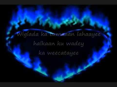 Somali Lyrics   Karaoke   Jecelka wad baan lahaa