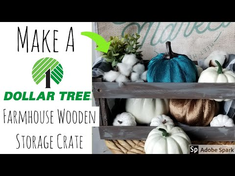 Dollar Tree DIY | Make a Real Wood Crate for Under 5 Dollars | 2 Methods!
