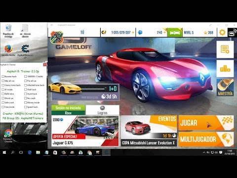 trainer asphalt 8 version 2.1.0p hack de todo /2015