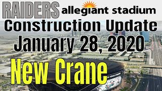 Las Vegas Raiders Allegiant Stadium Construction Update 01 28 2020
