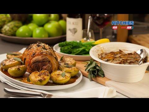 Boneless Pork Leg Roast With Fennel And Sage