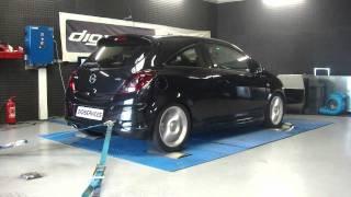 Reprogrammation Moteur Opel corsa GSI 1.7 cdti 125cv @ 157cv dyno digiservices Paris
