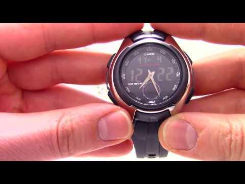 Часы Casio Illuminator AQ-160W-1B [AQ-160W-1BVEF] - Инструкция, как настроить от PresidentWatches.Ru