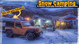 Snow Camping in fręezing weather on the Colorado River! #snowcamping