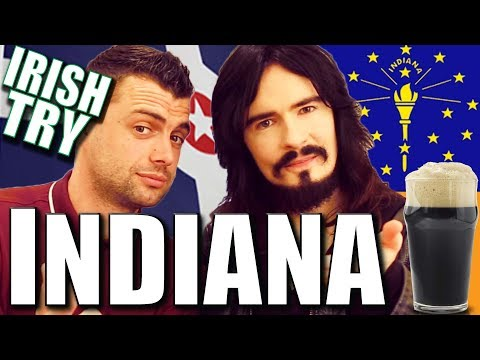 Irish People Taste Test Indianapolis, 'INDIANA' - Food / Snacks!!