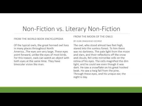What is literary nonfiction?