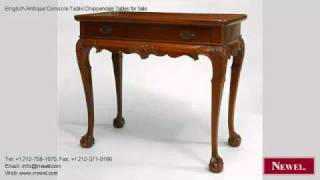 English Antique Console Table Chippendale Tables For Sale