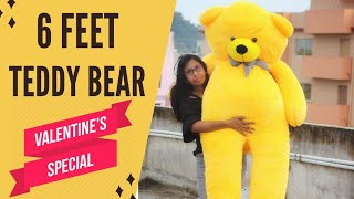 6 Feet Teddy Bear Unboxing | Valentine Giant Teddy Bear Unboxing | Best Birthday Gift For Girlfriend