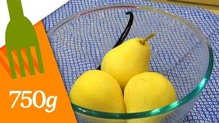 Pocher des poires au sirop  - 750g