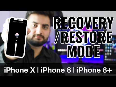 How to Put iPhone X / XR / XS / iPhone 8 / 8 Plus in Recovery mode | Restore Mode Tutorial