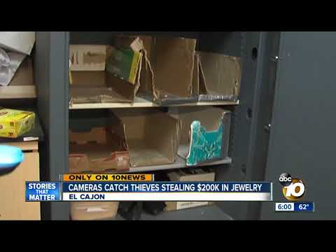 Cameras catch thieves stealing $200K in jewelry in El Cajon