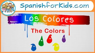Los Colores: The Colors in Spanish Song by Risas y Sonrisas SpanishforKids.com
