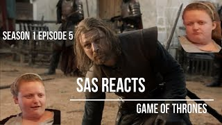 Game of Thrones Reaction! | Season 1 Episode 5 'The Wolf and the Lion'