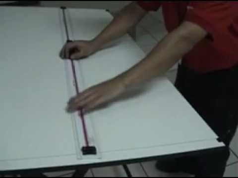 Como instalar una regla paralela youtube for Como disenar una mesa