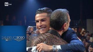 Sanremo 2020 - Lo Scambio Gagliardetti Con Georgina Rodriguez