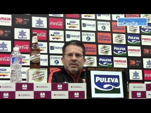 Pedro Mart�nez previa Valencia Basket vs Bilbao Basket