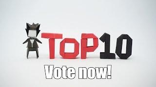 Please vote! Top 10 Origami 2016