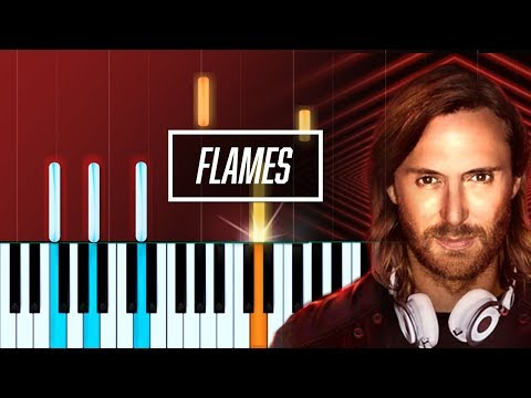 David Guetta - Flames ft Sia Piano Tutorial - Chords - How To Play - Cover