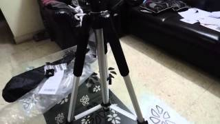 [Hindi] Photron Tripod Stedy 450 with Pan Head 4.5 Feet Unboxing and setup