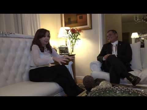 Correa visitó la Casa Rosada y se reunió con Cristina Kirchner