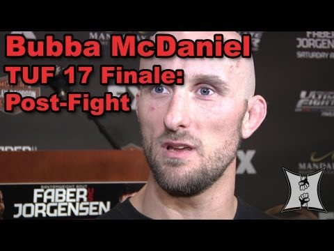 Bubba McDaniel On Submission Win Over Gilbert Smith at TUF 17 Finale