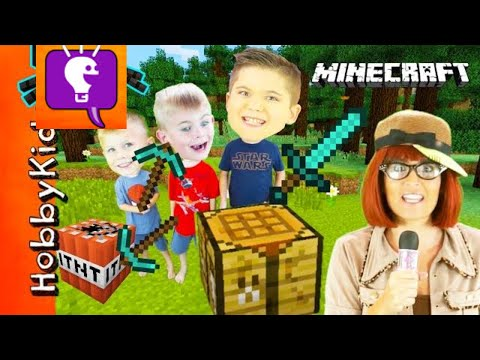 Minecraft SCAVENGER HUNT! Surprise Toys + Video Game Play, HobbyBobby Family Fun HobbyKidsTV