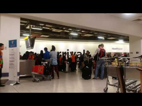 Heathrow airport terminal 3 arrival