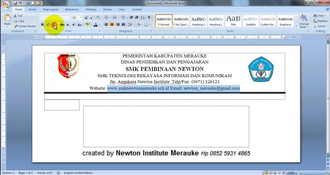Membuat Amplop Di Microsoft Office Word