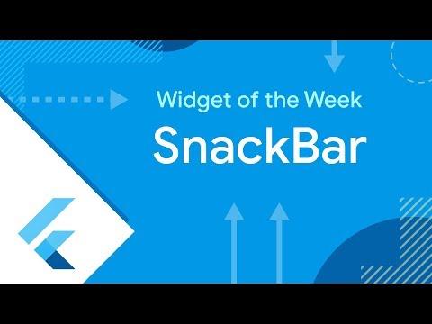 SnackBar (Flutter Widget of the Week)