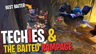 Techies and the Baited RAMPAGE - DotA 2 Funny Moments