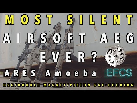 MOST SILENT AIRSOFT AEG EVER? ARES Amoeba EFCS DSG/Double Magnet/Piston Pre-Cocking [Comparison]