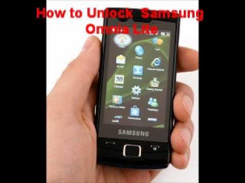 Samsung Omnia Lite Unlock Code - Free Instructions
