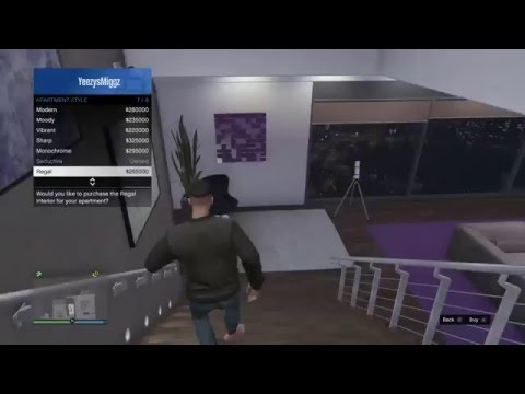 Gta v online new apartment interior designs youtube for Designer apartment gta 5