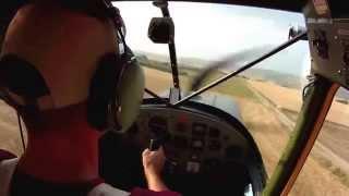 Cessna O-1 L19 Birddog landing 17 kt crosswind gusts 24. Flaps 45. my toughest landing so far,......
