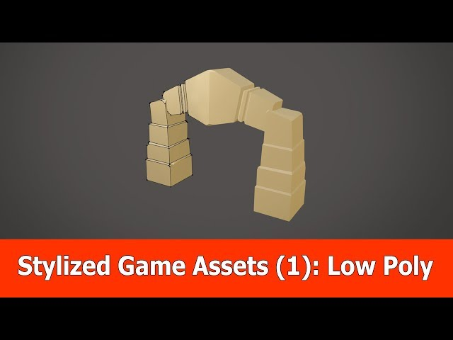 Stylized 3D Game Asset Tutorial (1): Low Poly with Blender 2.8