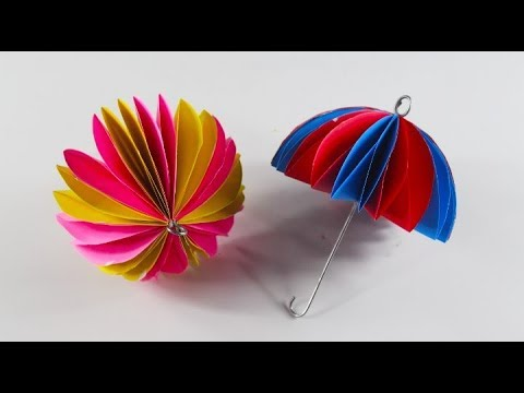 Easy Way To Make Beautiful And Stylish Paper Umbrella Making Paper