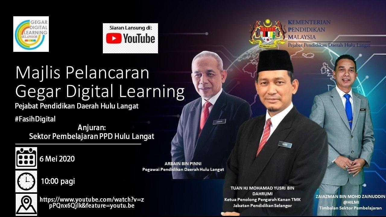Majlis Pelancaran Gegar Digital Learning Ppd Hulu Langat 2020 Youtube