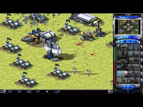 Red Alert 2 Yuri's Revenge - 1 VS 7 Brutal Enemy - Rocketeer Attack