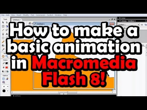 How to make a basic animation in Macromedia Flash 8!