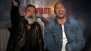 THE BEST DWAYNE JOHNSON & JEFFREY DEAN MORGAN INTERVIEW EVER! (RAMPAGE WORLD PREMIERE)