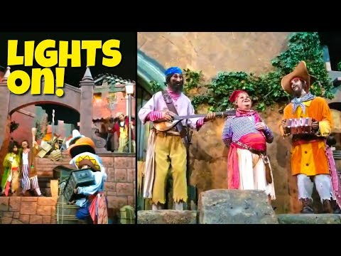 Pirates of the Caribbean Lights On, Sound Off- Disney World Breakdown!