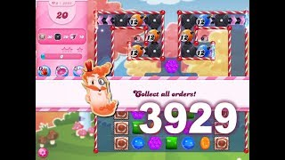 Candy Crush Saga Level 3929 (3 stars, No boosters)